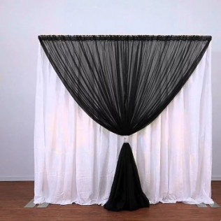 Backdrop with Two Color Drape